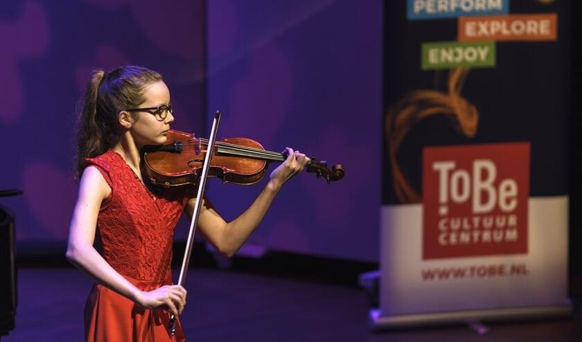 Isaura Laffeber tijdens het  ToBe Solisten Concours 2020.