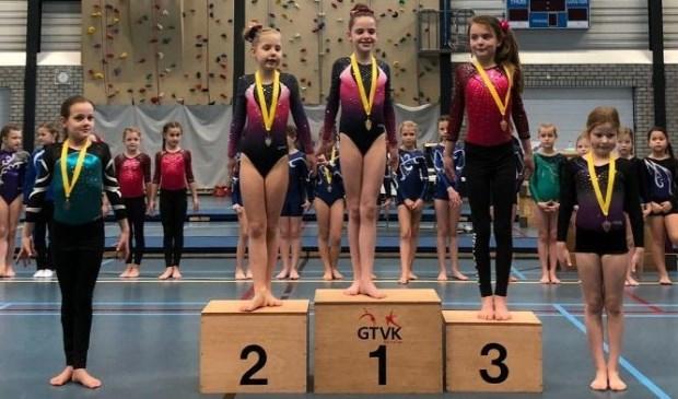 • Sarah van Maaren (links) werd vijfde. Foto: aangeleverd © Bommelerwaard