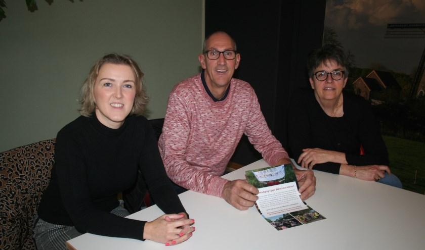 • Ilona van Weelden, Dick Dokman en Joanne Bredero zijn enthousiast over Beesd voor Elkaar.