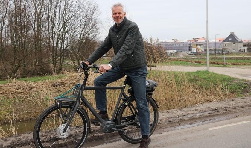 • Frank Oesterholt op de Koenderseweg in Leerdam.