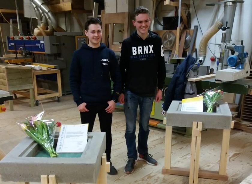 • Herman de Jong (links) en Daniël de Wind (rechts).