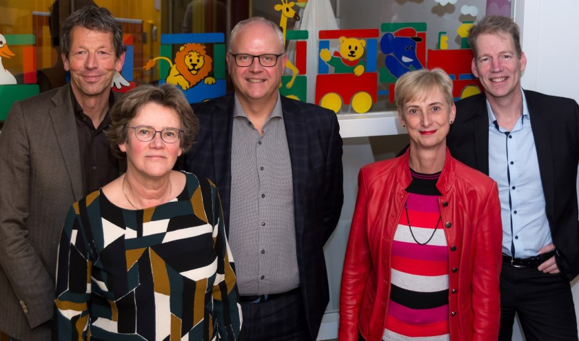 • De raad van toezicht van PIT kinderopvang & onderwijs bestaat uit (v.l.n.r.) Ad Keller, Hanske Plenge, Han Hendrikse, Ilona Dulfer en Jeroen Mathijssen.