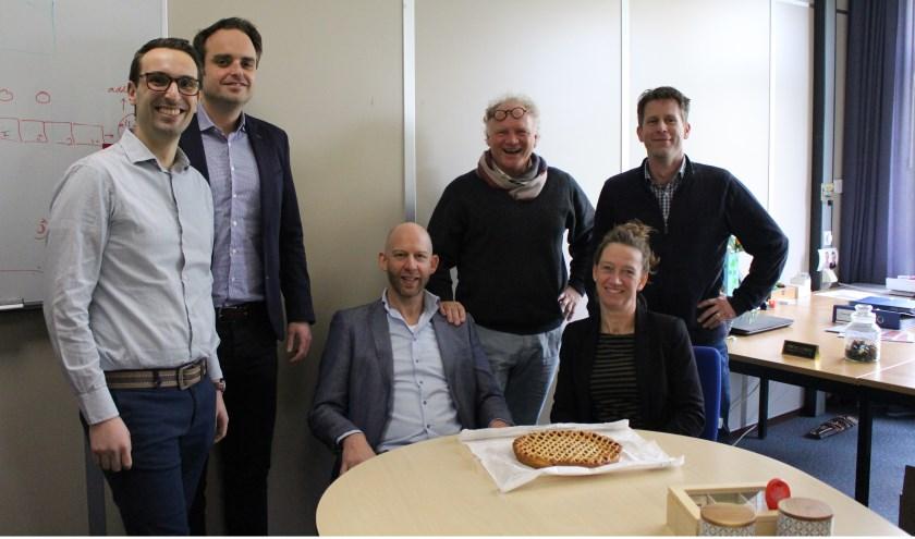 • V.l.n.r.: Sander Biesmans, Fred Wittelings, Joris Wanders, Aart Hageman, Josje Verhoeven en Martijn Spekman.