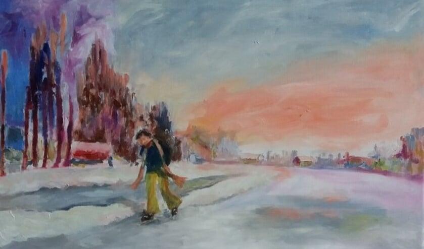 • 'IJspret op de Giessen' van Anje van Harten.