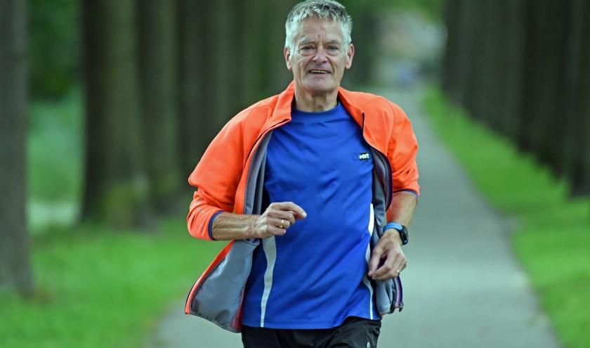 • Robert de Smet tijdens een trainingsloopje vlak bij huis.