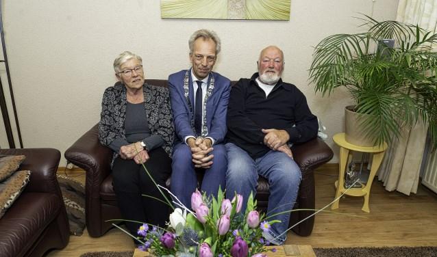 Echtpaar de Jong-Van der Hel 60 jaar getrouwd Foto: Nico Van Ganzewinkel © Leerdam