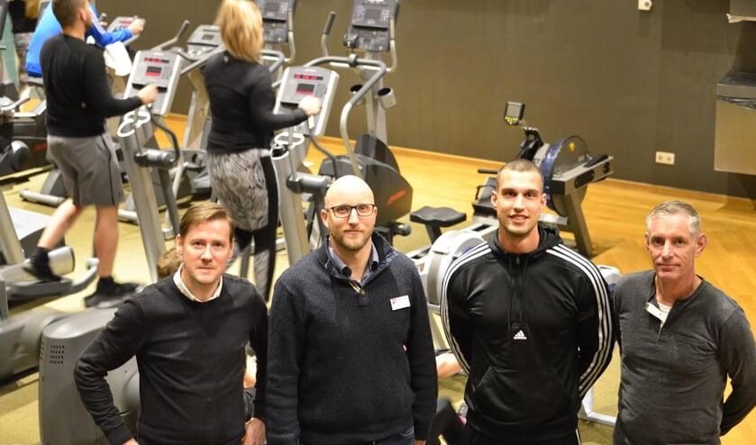 • Duncan, Henk, Hans en Arco kijken uit naar de sportmarathon op zaterdag 29 februari.