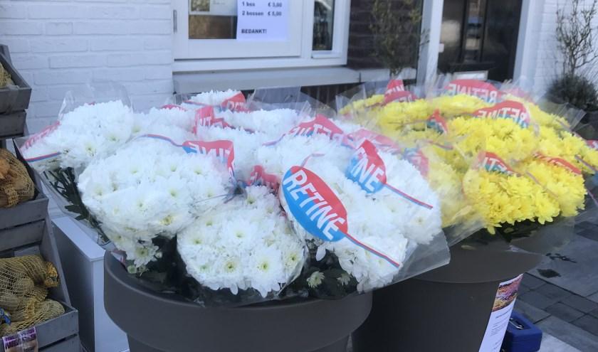 De bloemen en verkooppunt