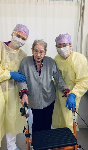 • De 101-jarige dame die is genezen van het coronavirus.