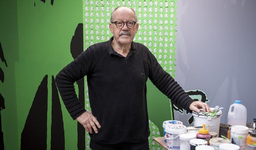 • Wim van de Goor in zijn atelier.