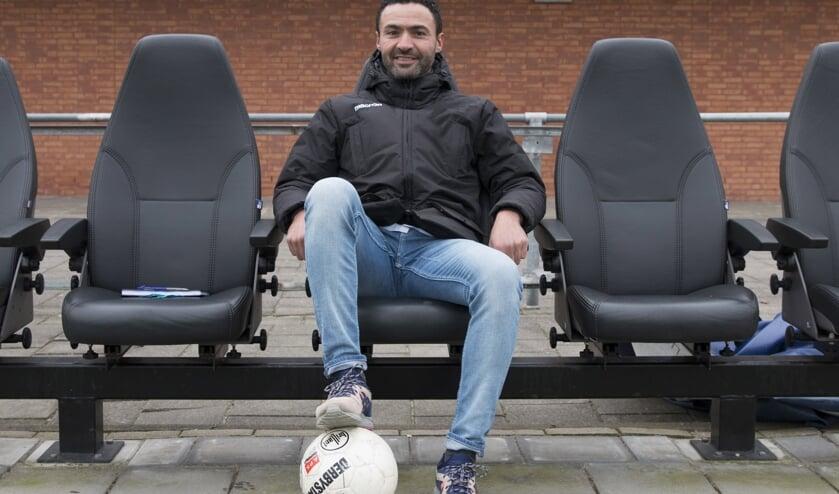 • Kerkwijk-trainer Nabil Bouchlal.