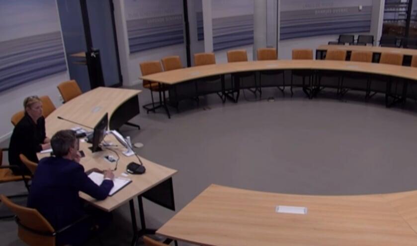 • De lege raadszaal in Papendrecht.