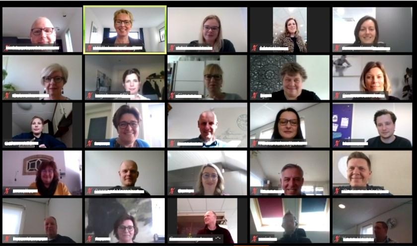 • Het beeld van de online bijeenkomst over de fusie tussen Lek en Waard Wonen en Beter Wonen.