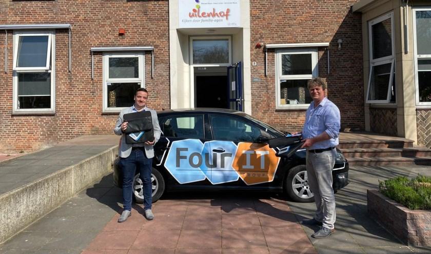 • Sander Olivier van FourIT (links) en Adri Hoekstra van Uilenhof.