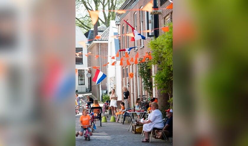 <p>Koningsdag in Het Klooster. De straat had een eigen Koningsdag-feestje georganiseerd.</p>