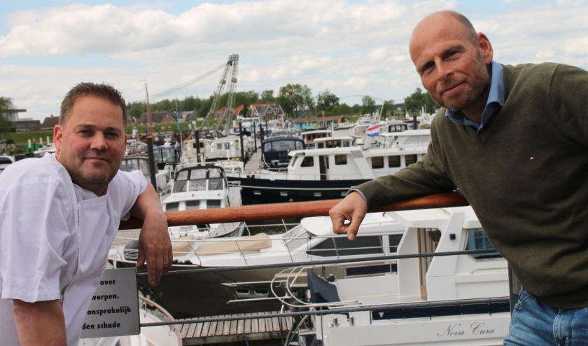 Michel Verweijmeren (links) en Gordon Sturhoofd.