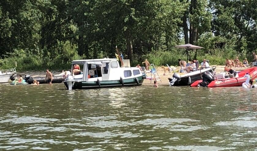 Op Hemelvaartsdag was erg druk in de Biesbosch.