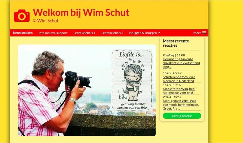• Een van de fotosites van Wim Schut.