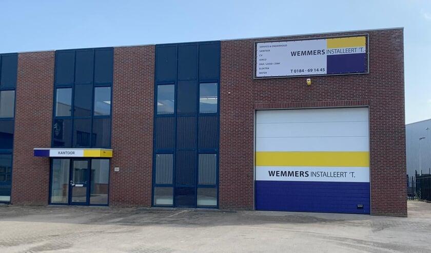 • Het nieuwe onderkomen van Wemmers Installatiebedrijf.