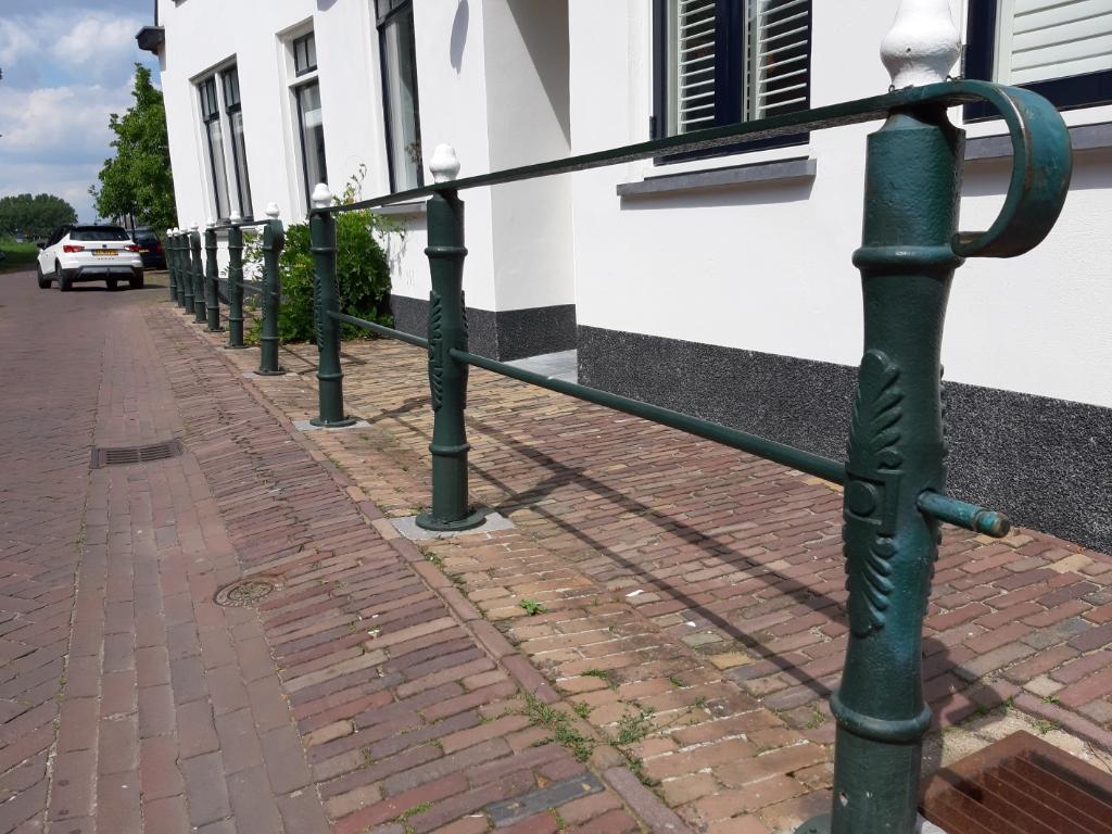 • Een foto van het nog aanwezig bestaande hek. Foto: Henk Lammertink © Vianen