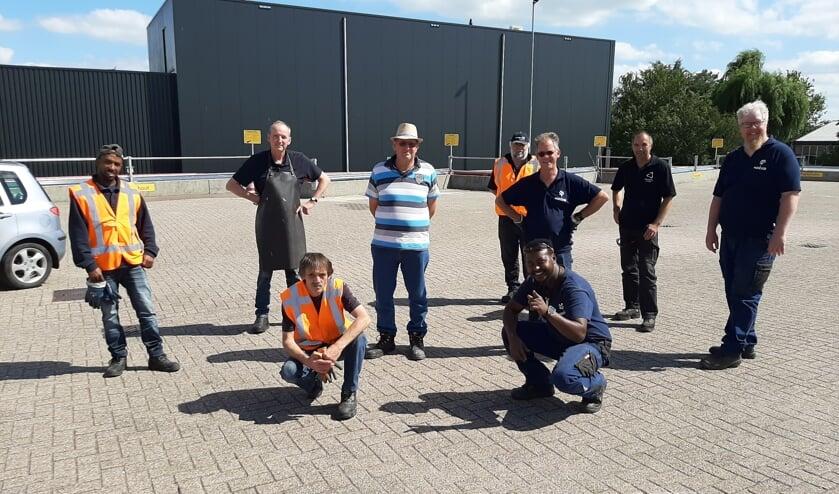 • Een deel van het team van het milieustation in Giessen.