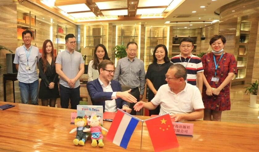 • De ondertekening van de overeenkomst met China.