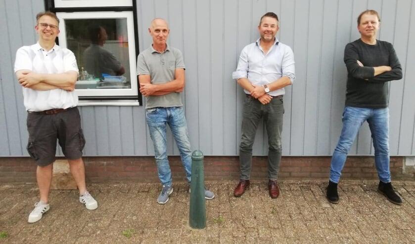 • V.l.n.r.: Alexander ter Meulen, Arjan van Gemeren,  Arjan Maat, René Struijs