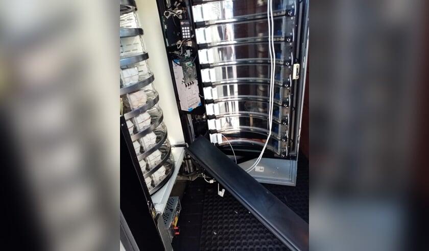 Inbraak in de automaat van De Boerderijautomaat in Wijk en Aalburg.