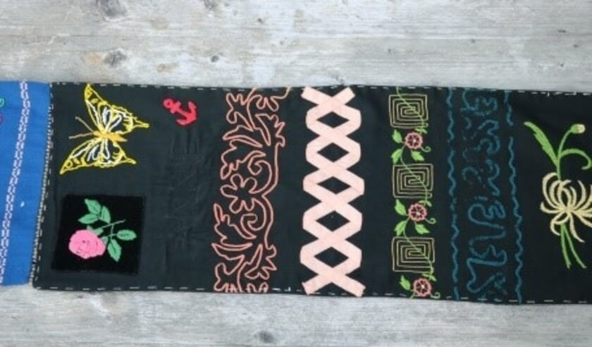 • Een voorbeeld van textielgoed voor de expositie bij de Koperen Knop.