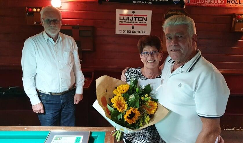 • Wim Zijderveld met zijn vrouw Ellie.