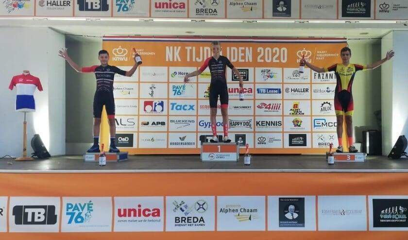 • Daan Hartog derde op NK-tijdrijden in categorie 6.