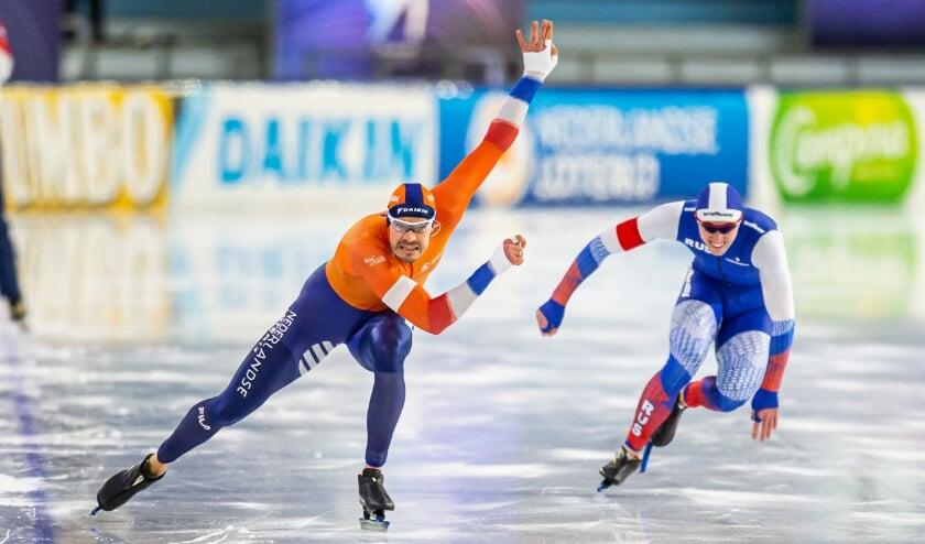 <p>• Hein Otterspeer in actie tijdens het EK-sprint 2021.</p>