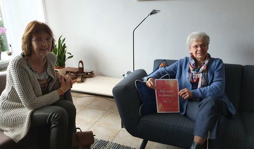 <p>• Hilda Pleysier en Marjan Tromp.</p>