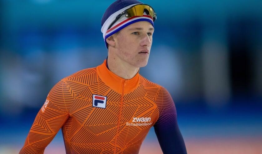 <p>Het IJsselsteinse schaatstalent Stein de Wit (17).</p>