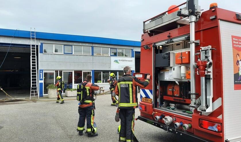 • De brandweer was snel ter plaatse.