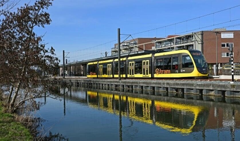 De tram bij eindhalte IJsselstein-Zuid