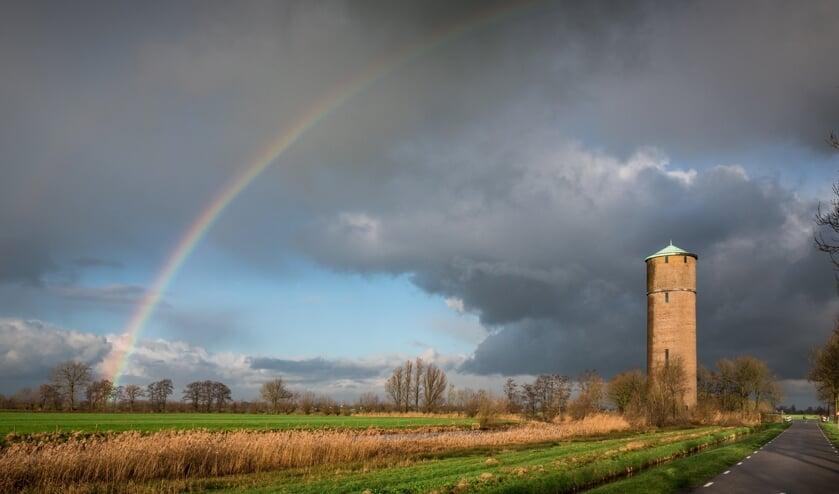 De watertoren aan de Damweg in Polsbroek.