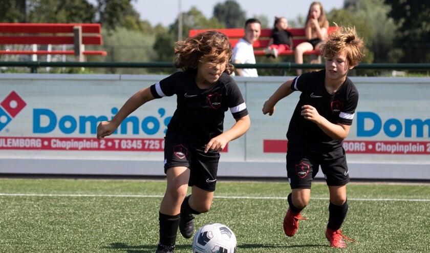Spelers van de Soccer Stars Academy