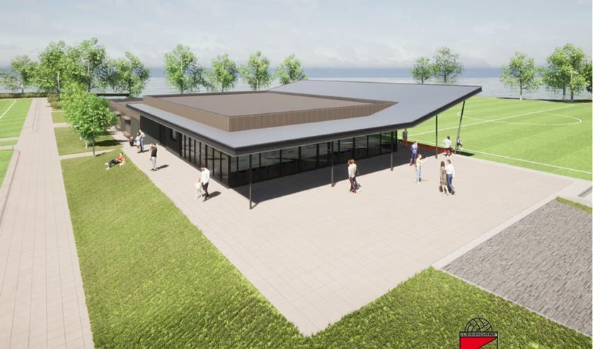 • Het nieuwe clubgebouw van Leerdam Sport'55.
