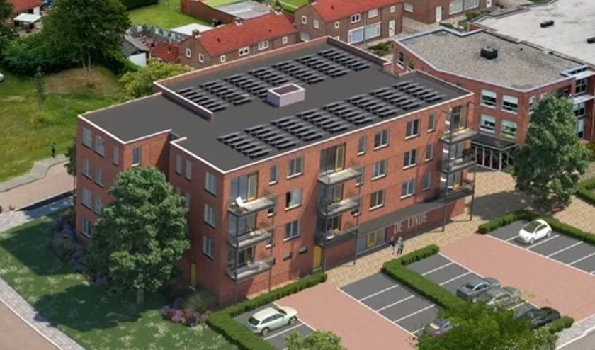 <p>Een artist impression van appartementencomplex De Linde in Almkerk.</p>