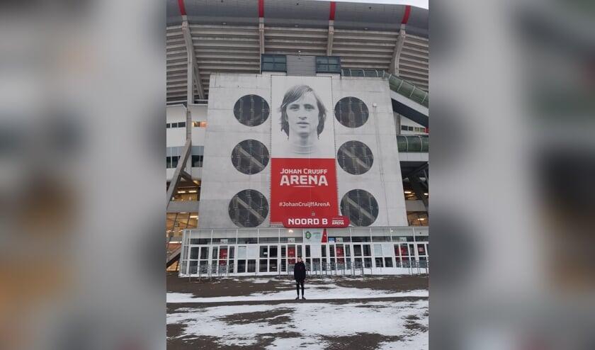 • Daan van Werd bij de Johan Cruijff Arena.