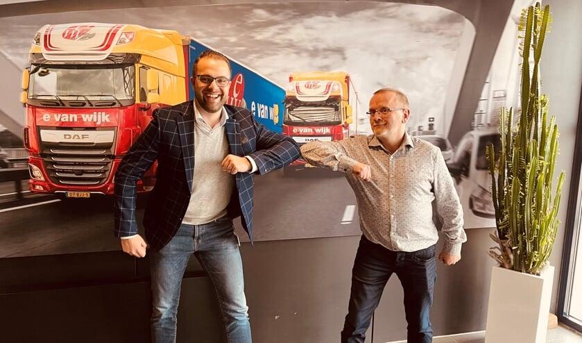 <p>Ewout van Wijk (links) en Laurens Golbach.</p>