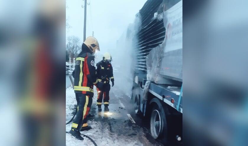 • Brandweer Schoonhoven in actie.