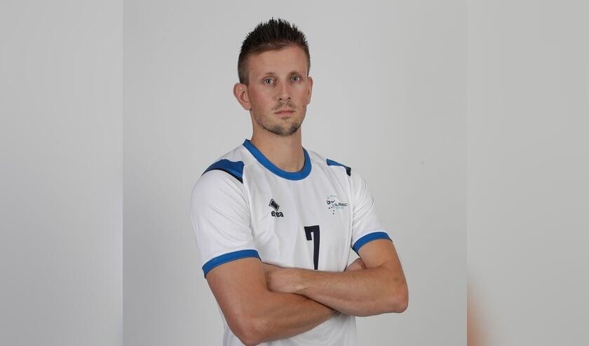 • Wessel Anker als volleyballer.