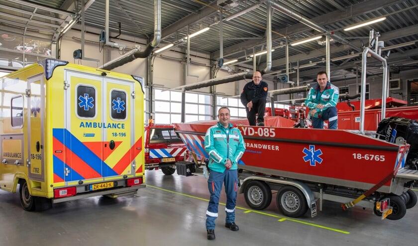 De 'brambuboot' is gestationeerd op de brandweerkazerne van Alblasserdam.
