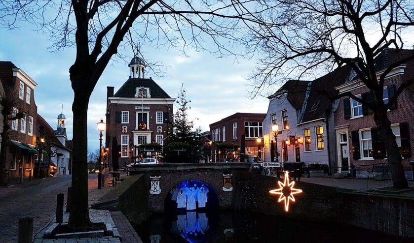 <p>&bull; Nieuwpoort tijdens het Lichtfestival in december 2020.</p>