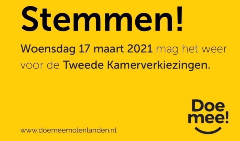 <p>• De voorkant van de flyer van DoeMee.</p>