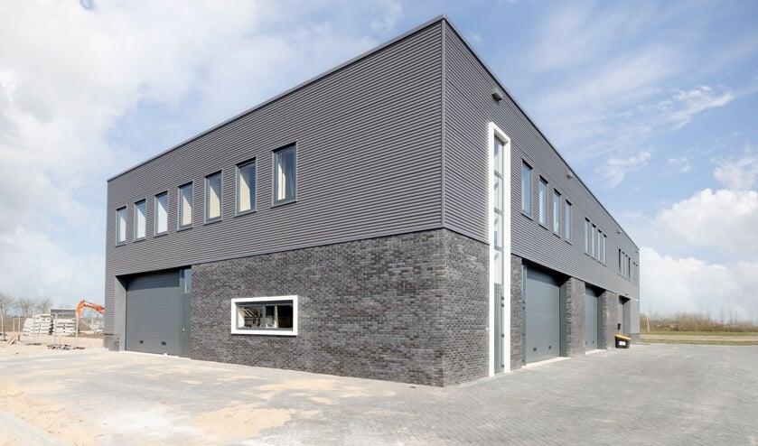 <p>&bull; Het nieuwe bedrijfsverzamelgebouw op bedrijventerrein De Wetering.</p>