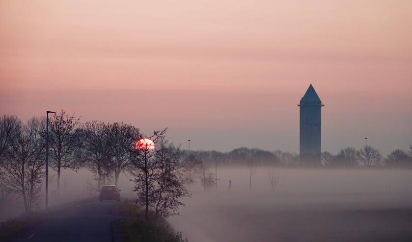 Watertoren van Meerkerk in een sprookjesachtige wereld