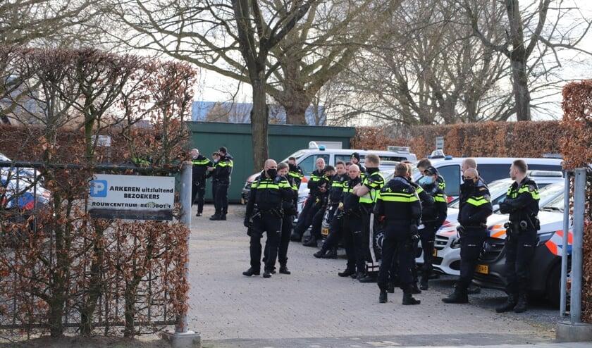 • Er waren zondag veel politiemensen op de been.
